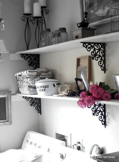 Laundry Room shelves - Let's Add Sprinkles