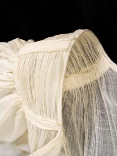 Sheer cotton gauze dress, ca. 1815-20   INSIDE OUT