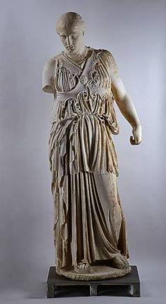 "Statue of Athena with ""crossed aegis"" Pergamon, Athenaheiligtum (found under the… Ancient Greek Sculpture, Ancient Greek Art, Ancient Greece, Michelangelo Sculpture, Roman Sculpture, Elgin Marbles, Pergamon Museum, Ancient Goddesses, Stone Statues"