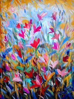 "Saatchi Art Artist Nada  Sucur Jovanovic; Painting, ""Sammer feald "" #art"