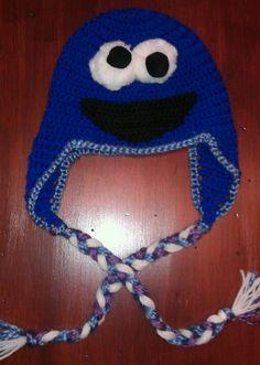 Cookie Monster Beanie/ Crochet