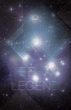 Be a legend by Ramiro Baldivieso, via Behance