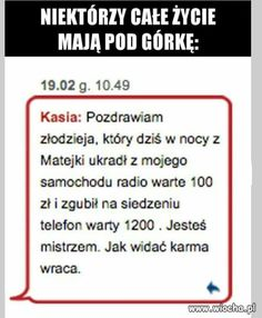 Funny Sms, Wtf Funny, Polish Memes, Weekend Humor, Some Quotes, Karma, How To Start A Blog, Jokes, Reading