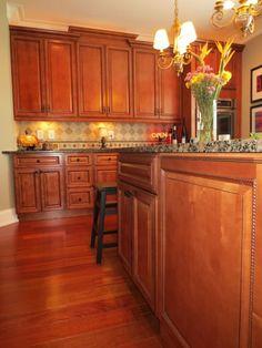 Orange Oak Cabinet Makeover The Lettered Cottage