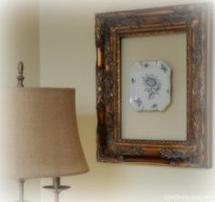 a plate in a frame...