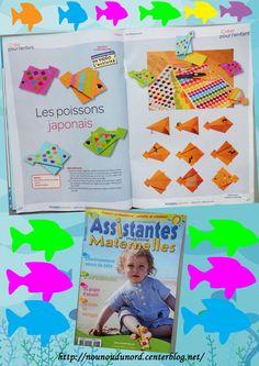 petits poissons que j'ai réalisés pour le magazine assistantes maternelles N°103 du mois Juin 2013.