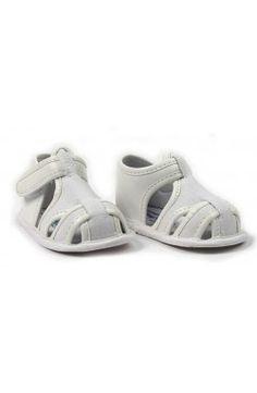 Sandalia de bebé chico blanco Mayoral