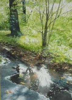 Abe Toshiyuki Watercolor on Waterford, 42x30cm, 2014