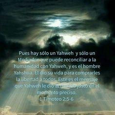 Porque hay un solo Elohim y un solo mediador entre Elohim y los hombres.  Yahshua el Mesías Mashiaj hombre.