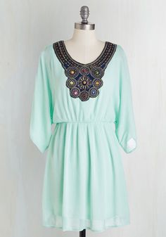 Boho All Out Dress. Flaunt your free-spirited take on fashion with this pastel mint dress! #mint #modcloth