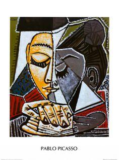"Pablo Picasso, ""Tete d'une Femme Lisant"", 1953 photo art portraits landscapes paintings modelling Still Life religion abstract cubism surrealism architecture sculpture photography childrens kids contemporary artwork drawing artist Kunst Picasso, Art Picasso, Picasso Paintings, Oil Paintings, Pablo Picasso Cubism, Picasso Collage, Indian Paintings, Collage Art, Portraits Cubistes"