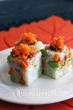 Worth Pinning: Sushi Rice Cubes
