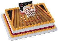 Miami Heat Slam Dunk Cake Topper - http://weheartmiamiheat.com/miami-heat-slam-dunk-cake-topper/