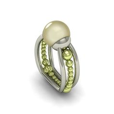 Lovely green #pearl ring