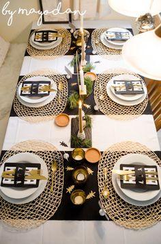 Meine Tischdeko für Weihnachten #weihnachten #christmasdecor #tischdeko #tabledecor #weihnachtsdekoration