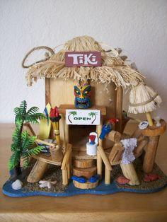 Wood Tiki Birdhouse - Birdhouses