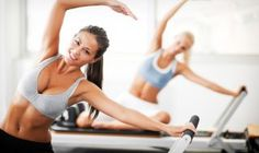 With all of the fancy new exercise equipment nowadays, the Pilates reformer has become one of the most popular the past couple of years. The Pilates reformer takes exercise to whole other level. Joseph Pilates, Yoga Pilates, Pilates Reformer, Pilates Body, Pilates Workout, Workout Fitness, Health Club, Health Fitness, Fitness Plan