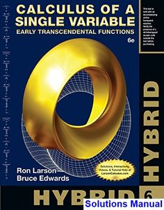 Solutions manual applied statistics probability engineers 5th calculus of a single variable hybrid early transcendental functions 6th edition larso solutions manual test fandeluxe Choice Image