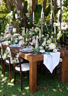 Deco de table Romance rustique