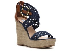 SM Women's River Wedge Sandal... These are super cute... Its got the navy w/ the natural... They also come in cream too... Bridesmaids could wear navy & I can wear cream..