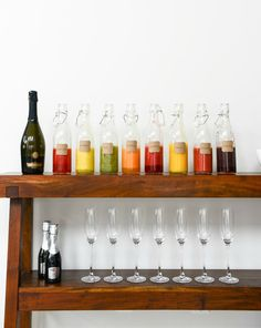 DIY bellini bar