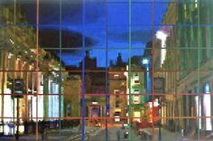 Glasgow Royal Exchange Square 91cm x 61cm acrylic on canvas