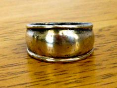 Men's Sterling Cigar Band  Size 8        Modernist Dome Ring by GemstoneCowboy on Etsy
