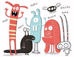 kids • illustration • children • book • art • drawing • monsters • cute • funny…