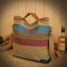 2015 new stripe vintage Women shoulder pouch messenger bag women canvas handbag women's handbags patchwork women bag