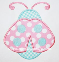 Ladybug Applique Design. U can change the fabric colors