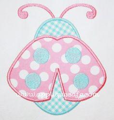 Ladybug Applique Design. U can change the fabric colors