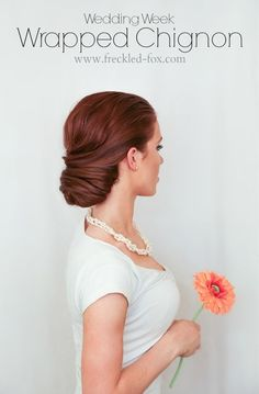 The Freckled Fox: WEDDING HAIR WEEK: Wrapped Chignon   by emily meyers