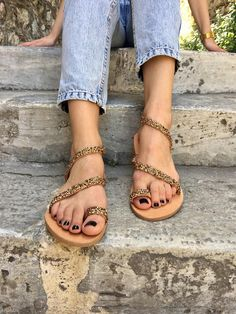 Sandals, Gladiator Sandals, Leather Sandals, Wedding Sandals, Wedding Shoes, Made in Greece Sand Colored by Christina Christina Jewels.