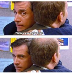The Office - Michael and Toby hahahahaha Michael's face says it all xD