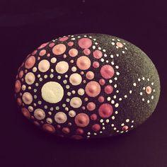 Pink Mandala Stone by HouseontheRidge on Etsy