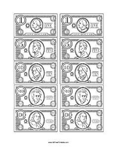 play money template casino party pinterest play money money