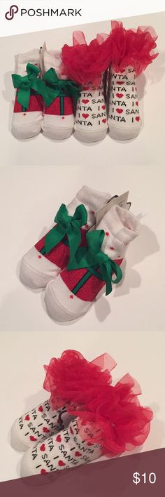 0d9c0e1abf532 Adorable Mud Pie Christmas Socks 🎄🎅🏼 Brand new for your baby s first  Christmas