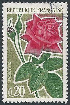 France, Postage Stamp, 1962 - Rose