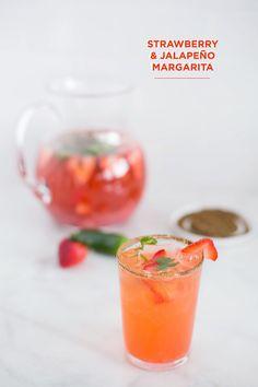 Strawberry Jaleneno margaritas