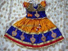 Mustard Blue Silk Lehenga | Indian Dresses
