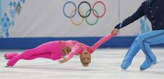 If you're going to perform to the Pink Panther theme, you might as well wear pink. Aliona Savchenko and Robin Szolkowy of Germany compete during the Figure Skating Pairs Short Program on day four of the Sochi 2014 Winter Olympics Youth Olympic Games, Olympic Sports, Ice Skating, Figure Skating, Aliona Savchenko, Pink Panther Theme, Pink Bodysuit, Pink Suit, Orange Is The New