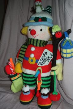 Scary knitted clown! grandmas friend kept making you these horrid things