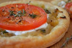 Carmelized onion and goat cheese tart