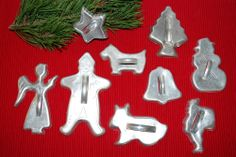 Antique 1940's - 1950's Lot of 9 Holiday Cookie Cutters. $22.00, via Etsy.
