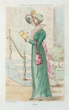 1805 [Women's fashion in nineteenth-century Paris] From New York Public Library Digital Collections.