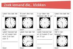 klokkijken oefenen klokken cooperatieve werkvorm