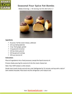 Low Carb Keto Fat Bomb Recipes | Start Low Carb