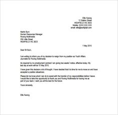 7 Best Professional resignation letter images | Professional ...