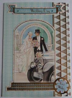 Wedding Card Wedding Handmade Card Wedding Celebration Card #weddingcards #weddings #handmadecard #beautifulcards #vintagecards #vintage #weddings #uniquecards #scrapbooking