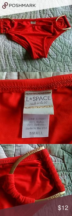 L*Space Bikini bottoms S Really cute bottoms with moderate cheeky coverage - gentle used condition , no stains rips tears l*space Swim